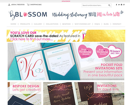 Paperback Designs Website Portfolio - By Blossom Wedding Stationery Kent