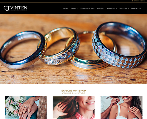 Paperback Designs Website Portfolio - CJ Vinten Jewellery Leigh On Sea