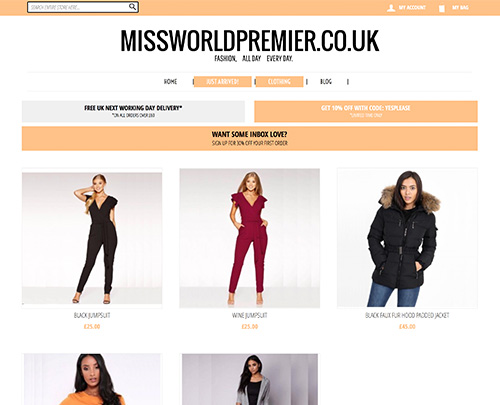 Paperback Designs Website Portfolio - Miss World Premier