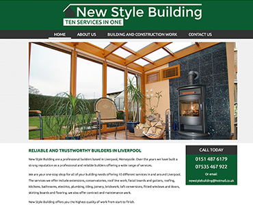 Paperback Designs Website Portfolio - New Style Builders