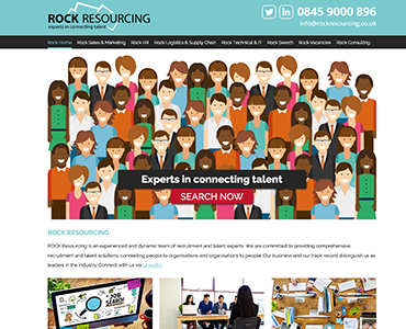 Paperback Designs Website Portfolio - Rock Resourcing Recruitment