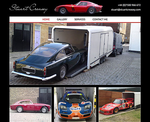 Paperback Designs Website Portfolio - Stuart Creasey Car Transport